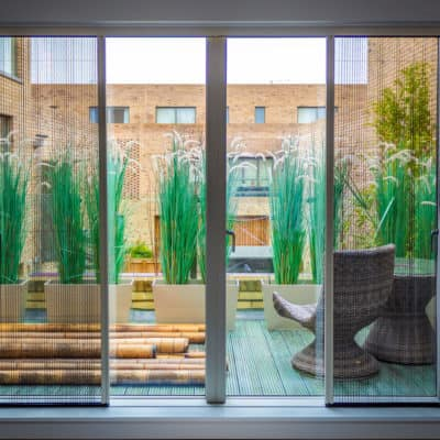 Distinction fly screens for double doors