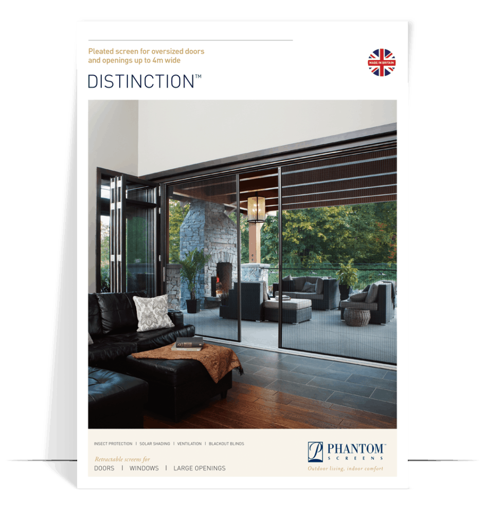 distinction product brochure - pleated fly screens for doors