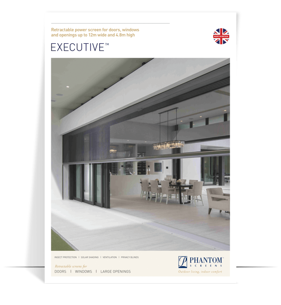 executive product brochure - automated screens for large openings