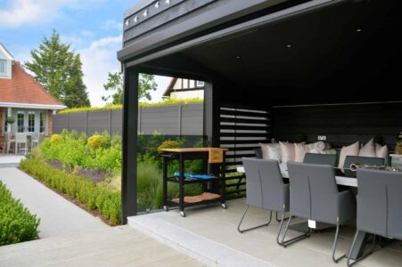 Automated Screens for outdoor kitchen