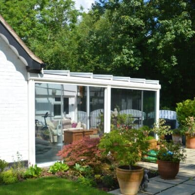 Power screens for conservatory