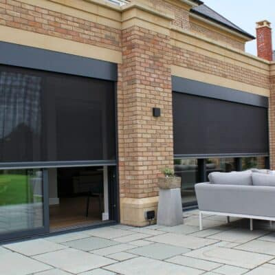 Solar mesh and privacy mesh in use at this stunning property